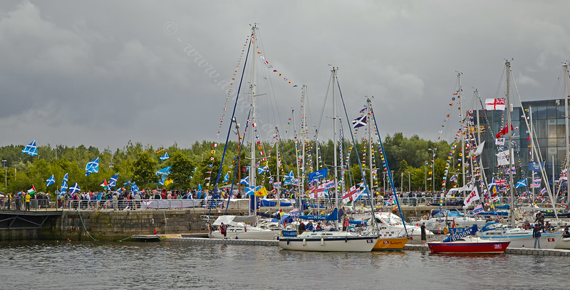 Commonwealth Flotilla at Pacific Quay in Glasgow - 27 July 2014