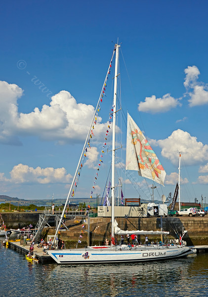 'Drum' at the Commonwealth Flotilla in James Watt Dock Marina - 25 July 2014