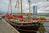 Sailing Vessels at Pacific Quay in Glasgow