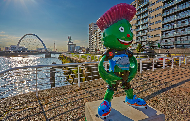 'Clyde' the Glasgow Commonwealth Games Mascot - 23 July 2014