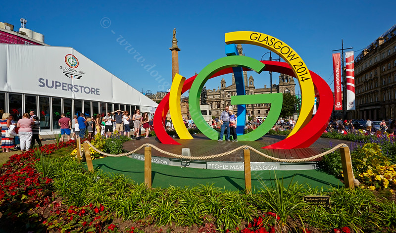 George Square Display for the Glasgow Commonwealth Games - 23 July 2014
