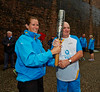 Handing Over the Baton at Newark Castle - 14 July 2014