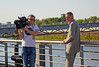 Cameraman and Interviewer at the BBC - Glasgow Commonwealth Games - 23 July 2014