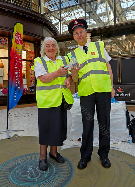 Salvation Army Give Free Water at the Glasgow Commonwealth Games - 23 July 2014
