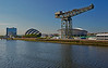 Looking Down the River Clyde at the Glasgow Commonwealth Games - 23 July 2014