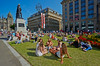 Enjoying the Sunshine at George Square at the Glasgow Commonwealth Games - 23 July 2014