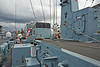 HMS Bangor (M109) at Plantation Quay, Glasgow - 27 July 2014