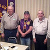 "PERFECT ATTENDANCE AWARDS  October and November 2013  We missed getting photos of ""Perfect Attendance"" recipients in October, so on November 14, 2013, we asked Lion President Rik Bartels (in the vest) to  share a moment with three Belle Fourche Lions who've amassed a pretty hefty attendance record.  Left-to-right are:  Lions Swede Wennberg (40 years), President Bartels, Chuck Livingston (47 years) and Bob Drabek (47 years).  Collectively, that more than 134 years of Lionism!   Congratulations!"