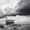 Maker:  Wayne Tabor Title:  Prairie Cabin in Storm Category:  Black & White Score:  13