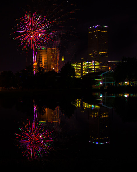 Fireworks over Tulsa