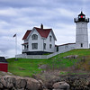 "Cape Neddick Light (a.k.a. the ""York Nubble"") on a cloudy afternoon. York, Maine."