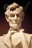 STY-ALINCOLN 00025 A tight crop of Lincoln's face at the Washington D C  Lincoln Memorial statue picture by Peter J Mancus