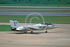 F-14USN-VF-143 0009 A taxing Grumman F-14 Tomcat USN jet fighter VF-143 PUKIN DOGS 1-1979 military airplane picture by Ron McNeil