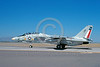 F-14USN-VF-202 0009 A taxing Grumman F-14 Tomcat USN jet fighter 162711 VF-202 SUPERHEATS USS Dwight D Eisenhower 10-1989 via African Aviation Slide Service