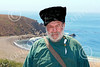 HR-FtRossRUSS 00140 An older male civilian Russian settlor historical re-enactor at Ft Ross California, historical re-enactor picture by Peter J Mancus