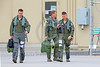 ACM 00176 A nice candid picture of three California ANG F-15 Eagle jet fighter pilots walking to their jets for a training flight at Fresno ANG base 3-2015, portrait by Peter J Mancus