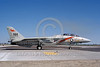 F-14USN-VF-114 0031 A taxing Grumman F-14 Tomcat USN VF-114 AARDVARKS USS Enterprise with Phoenix missile NAS Fallon 6-1982 military airplane picture by Michael Grove, Sr