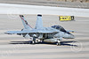 Boeing F-18F-USN 00245 A Boeing F-18F Super Hornet jet fighter US Navy VFA-41 BLACK ACES CAG taxis at NAS Fallon 1-2015 military airplane picture by Peter J Mancus