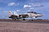 F-14USN-VF-211 0001 A taxing Grumman F-14 Tomcat USN jet fighter VF-211 CHECKMATES USS Constellation NAS Fallon 10-1976 military airplane picture by Peter B Lewis