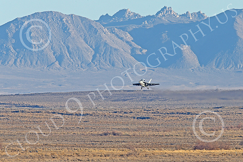 Boeing F-18F-USN 00250 A Boeing F-18F Super Hornet jet fighter USN VFA-41 BLACK ACES on final approach to land at NAS Fallon 1-2015 military airplane picture by Peter J Mancus