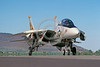 F-14USN-VF-21 0003 A taxing Grumman F-14 Tomcat USN jet fighter VF-21 FREELANCERS Kingsley Field 3-1990 military airplane picture by Peter J Mancus