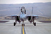 F-14USN-VF-101 0001 A taxing Grumman F-14 Tomcat USN jet fighter VF-101 GRIM REAPERS Nellis AFB 11-2003 military airplane picture by Peter J Mancus