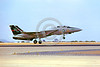 F-14USN-VF-51 0002 A landing Grumman F-14 Tomcat USN jet fighter 160679 VF-51 SCREAMING EAGLES USS Kitty Hawk NAS Miramar 8-1980 military airplane picture by Peter J Mancus