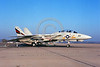 F-14USN-VF-154 0003 A static Grumman F-14 Tomcat USN jet fighter 161618 VF-154 BLACK KNIGHTS USS Constellation NAS Miramar military airplane picture by Peter J Mancus