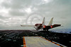 F-14USN-VF-24 0001 A Grumman F-14 Tomcat USN jet fighter VF-24 FIGHTING RENEGADES take-off from an aircraft carrier in afterburner military airplane picture by PeterJMancus