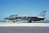 F-14USN-VF-1 0055 A taxing USN Grumman F-14 Tomcat jet fighter 161202 VF-1 WOLFPACK USS Kitty Hawk NAS Fallon 6-1983 military airplane picture by Michael Grove, Sr
