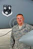 ACM 00147 A California ANG F-15 crew chief stands next to his F-15 Eagle jet fighter at Fresno ANG base 3-2015 military airplane picture by Peter J Mancus