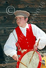 HR-FtRossRUSS 00045 A standing drummer boy Ft Ross California Russian settlor historical re-enactor picture by Peter J Mancus