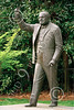 VIPS-Winston S Churchill 00025 Britain's World War II Prime Minister Winston S Churchill flashes his classic V for victory sign, statue picture by Peter J Mancus
