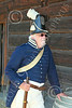 HR-FtRossRUSS 00153 A standing male civilian milita Russian settlor historical re-enactor at Ft Ross California, historical re-enactor picture by Peter J Mancus