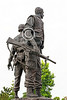 STY-VIETNWM 00007 A quarter rear view of a Vietnam War Memorial statue picture by Peter J Mancus
