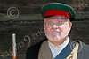 HR-FtRossRUSS 00152 An older male civilian milita Russian settlor historical re-enactor at Ft Ross California, historical re-enactor picture by Peter J Mancus