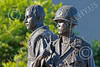 STY-VIETNWM 00052 Close up of faces of American and South Vietnamese allies in a Vietnam War Memorial statue picture by Peter J Mancus