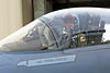 ACM 00077 Portrait of a smiling, waving California ANG F-15 Eagle jet figher pilot as he taxis out for a training mission, by Peter J Mancus