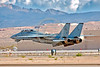 F-14USN-VF-101 0036 A flying Grumman F-14 Tomcat USN jet fighter VF-101 GRIM REAPERS 11-2004 Nellis AFB military airplane picture by Peter J Mancus