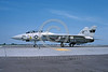 F-14USN-VF-1 0043 A taxing USN Grumman F-14 Tomcat jet fighter 161274 VF-1 WOLFPACK USS Kitty Hawk NAS Fallon 6-1983 military airplane picture by Michael Grove, Sr