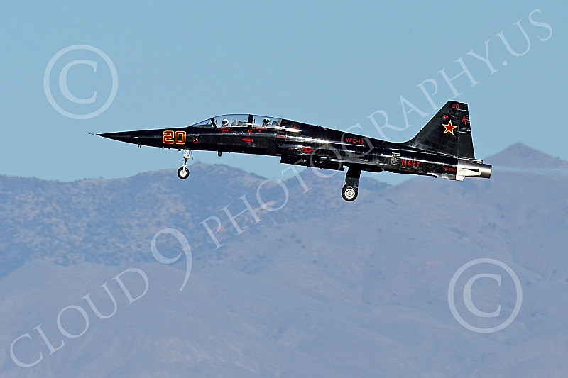 F-5USN 00210 A flying black Northrop F-5B Freedom Fighter jet fighter USN 761580 VFC-13 SAINTS at NAS Fallon 1-2015 military airplane picture by Peter J Mancus