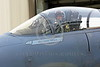 ACM 00048 Portrait of a smiling, waving California ANG F-15 Eagle jet figher pilot as he taxis out for a training mission, by Peter J Mancus