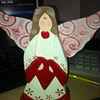 "Item # ; NO TAG; 8"" t; wooden christmas angel; PHP175"