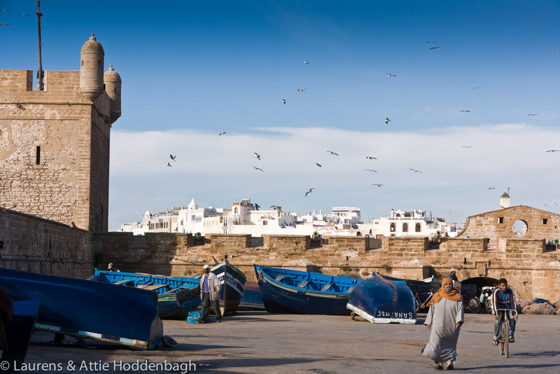Fishing boats at harbour Essaouira