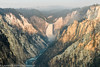 Sunrise in the Grand Canyon of Yellowstone from Artist Point