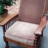 Reclining chair, Creve Coeur Antique Mall, $125. With some TLC and new cushions, this would be fabulous. See the next picture for the reclining apparatus.
