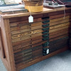 Oak printer's desk, Creve Coeur Antique Mall, $620 firm. This desk is about 30 inches tall.