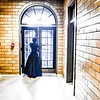 Ghost Lady in Door horror themed photo shoot