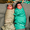 Twin Boys One Hour After Birth in IDP Camp, Afghanistan