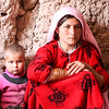 Young mother and child in IDP Camp, Herat, Afghanistan